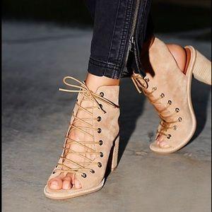 Free People Jeffrey Campbell Minimal Lace up heel